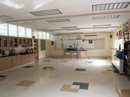 Dunlap Elementary School, a former high school, is home to some rooms that are too large for their current purpose. Changes to the area would be funded by the bond proposal if approved by voters.