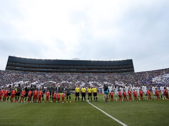 The International Champions Cup friendly game between Real Madrid and Chelsea FC at Michigan Stadium on Saturday, July 30, 2016, in Ann Arbor, MI.