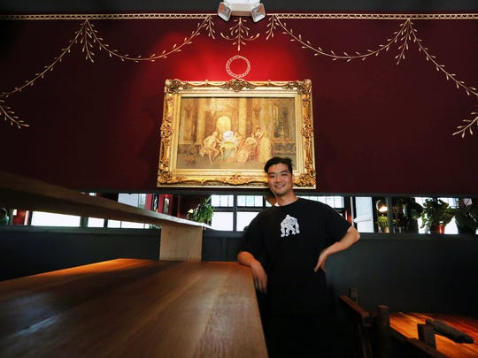 """Shinya Hirakawa, 35, of Royal Oak, a sushi chef/ DJ/ beat maker is hosting a pop-up sushi event called """"Shinya Loves Detroit""""  at Craft Work at  8047 Agnes St. in Detroit from 5 p.m - 10 pm every Thursday. Photographed at the newly constructed  bar inside of Craft Work's dining room Wednesday, June 22, 2016."""