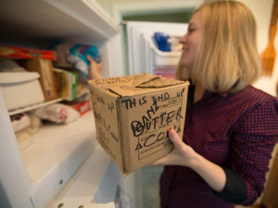 At least for now, Elisha Anderson plans to keep the butter cow head sculpture in her freezer.