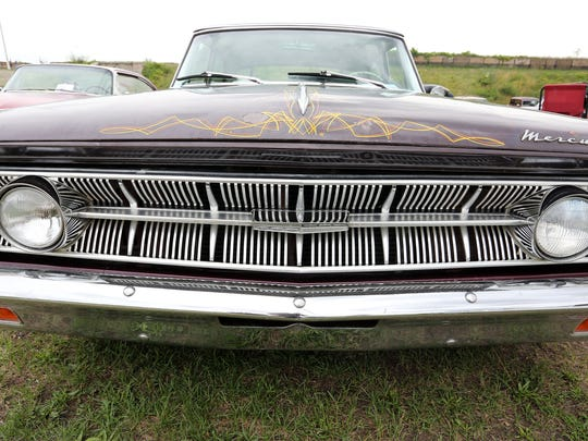 Tom Perry, 44, of Rochester owns a 1963 Mercury Monterey