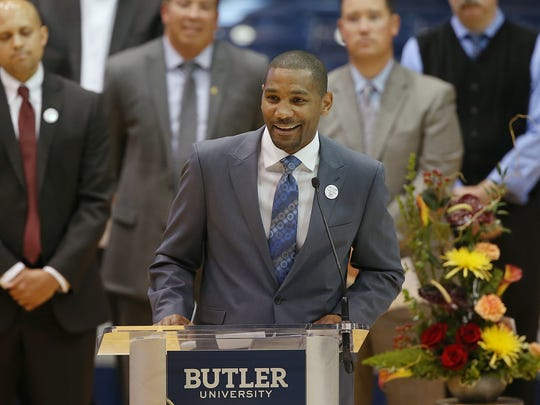 LaVall Jordan, 38, head coach at Milwaukee, is a former Bulldog player who was on teams coached by Butler athletic director Barry Collier.