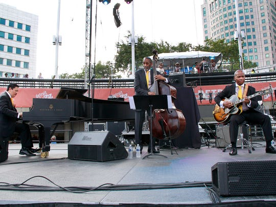 Festival artist-in-residence Ron Carter (bass) leads his trio with guitarist Russell Malone at 5:15 p.m.Sunday at the Amphitheater Stage. The band is show performing at 2015 Detroit Jazz Festival,