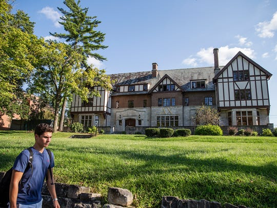 The building that formerly housed the Indiana University chapter of Alpha Tau Omega now houses Delta Chi, in Bloomington, Ind., Monday, August 29, 2016. The Alpha Tau Omega IU chapter was dismissed from campus as a disciplinary action.