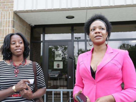 Attorneys Renette Jackson, left, and Danien Woodson