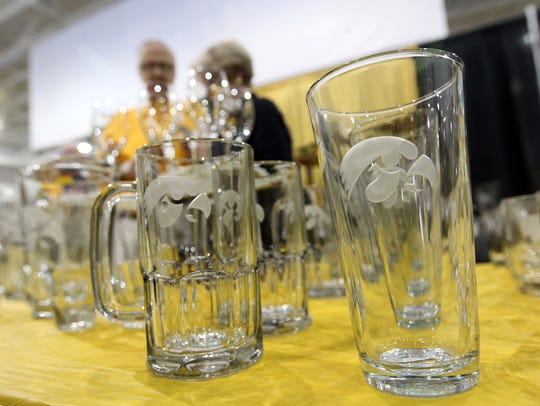 Bob Hibbert's glassware is pictured at FRYfest at the