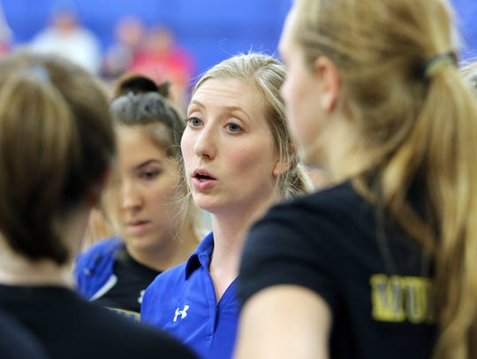 Mukwonago High School varsity volleyball coach Allison