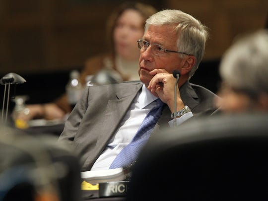 Iowa Regent Michael Richards is pictured during a Board
