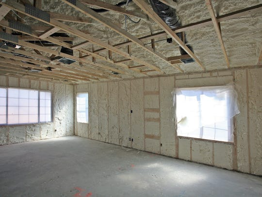 Polyurethane foam insulation is used throughout homes