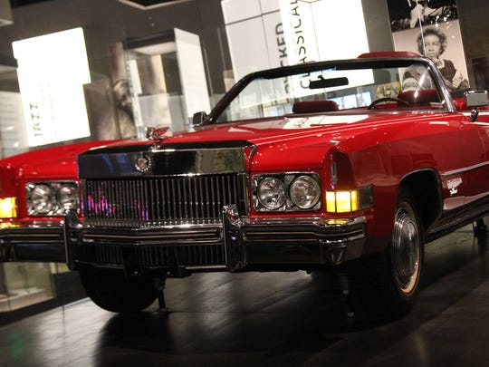 Detroit-made 1973 Cadillac ElDorado belonging to singer Chuck Berry, on display at the new National Museum of African American History and Culture in Washington D.C., press preview day on Wednesday Sept. 14. The museum opens to the publkic on Sept. 24.