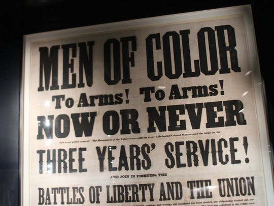 Poster at the new National Museum of African American History and Culture in Washington D.C., press preview day on Wednesday Sept. 14. The museum opens to the publkic on Sept. 24.