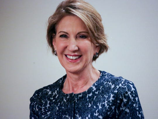 Former GOP presidential candidate Carly Fiorina speaks