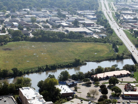 The Riverfront Crossings district of Iowa City is pictured on Sept. 25, 2016.