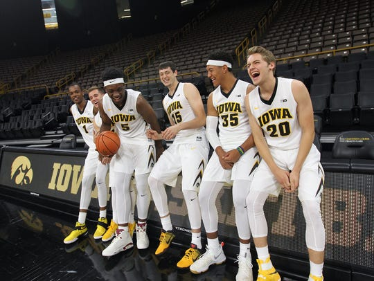 The Iowa freshman class, Maishe Dailey, from left,