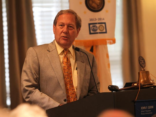 University of Iowa President Bruce Harreld speaks at