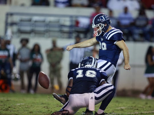 JSU's left-footed kicker Christian Jacquemin led the way on a banner day for Jackson State's special teams units in an 18-16 win over Florida A&M in Tallahassee.