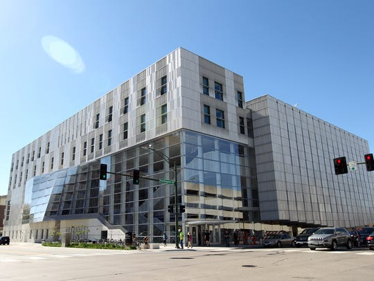 The University of Iowa Voxman Music Building is pictured