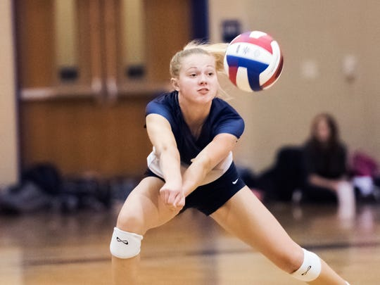 Chambersburg's Danessa Martin (3) bumps the ball during