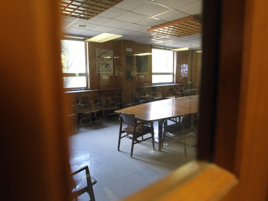The Aurora Room, dedicated to Gang Lu shooting victims Christoph Goertz, Dwight Nicholson, Robert Smith and Linhua Shan, is pictured inside Van Allen Hall on Oct. 5, 2016.