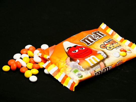 M&M's Halloween contribution is White Candy Corn M&M's,