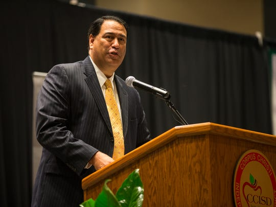 Corpus Christi Independent School District Superintendent Roland Hernandez speaks during the Corpus Christi Education Foundation's annual State of the District luncheon Wednesday, Oct. 26, 2016, at the American Bank Center.