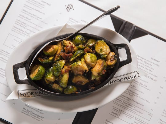 Roasted brussels sprouts with bacon marmalade ($10) are among a la carte side dishes served at Hyde Park Prime Steakhouse, Downtown Indianapolis. The restaurant opened Oct. 27, 2016, at 51 N. Illinois St.
