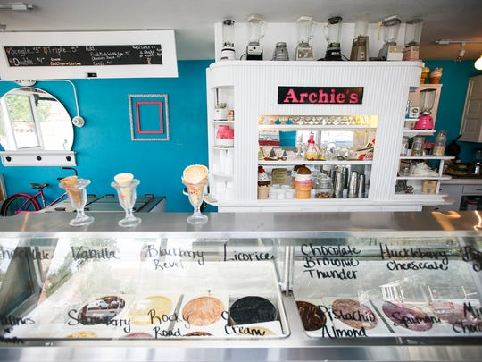 Archie's Ice Cream in Dayton is decorated with vintage blenders and knickknacks. The store is owned by sisters Lindsey and Ashley Archibald, and their father stocks the cafe with antiques he has found over the years.