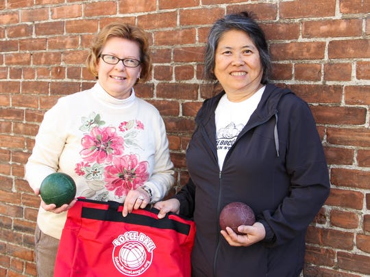 Suzie Hubert and Laurie Naemura are two members of the Salem Bocce League ready to teach you all about the game at an open house on Nov. 15.
