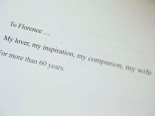A dedication from Leon's memoir Zig Zag Pass: Love and War, A Memoir.