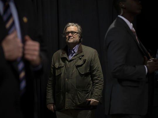 FILE — Stephen Bannon, who President-elect Donald Trump