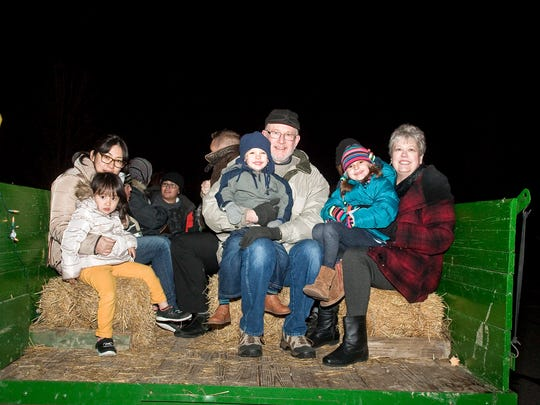 Hayrides are a popular attraction at Novi's Light Up the Night event.