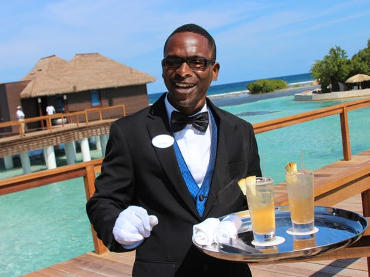 A private butler will attend to guests at the new overwater