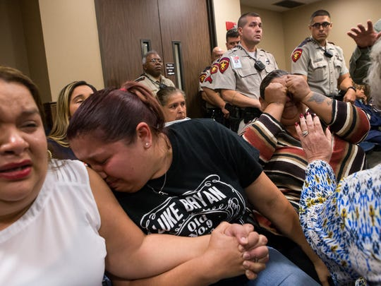 Clarryssa Silguero's family members react as Heriberto Saenz is found guilty of murder and three counts of aggravated assault Tuesday. was found guilty of murder and three counts of aggravated assault Tuesday. Saenz was convicted in the 2009 drive-by shooting that killed Silguero and injured three men.