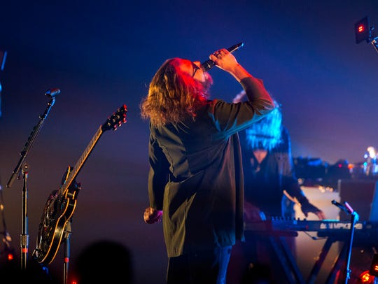 Jim James performs for the crowd at The Louisville