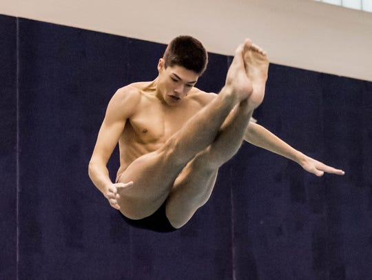 Levi Youmans won a state championship in diving for Lakeview last season.