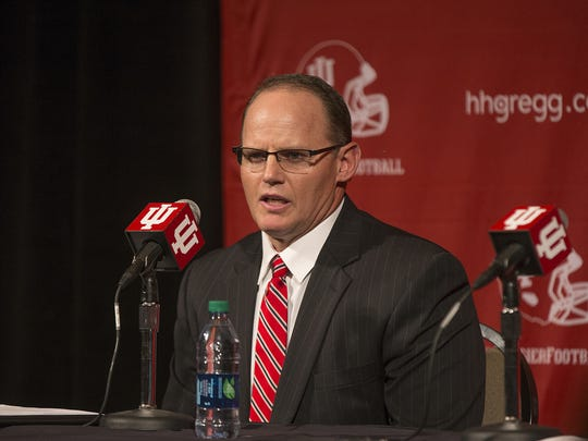 Indiana University football coach Tom Allen.