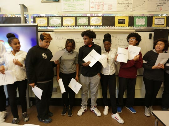 Understanding each other's bodies can be puzzling for teenagers. To take the mystery out of it, students take part in an exercise about reproductive organs and concepts as part of their family life and sexuality education class in the Carrera Adolescent Pregnancy Prevention Program in New York on Nov. 16, 2016.
