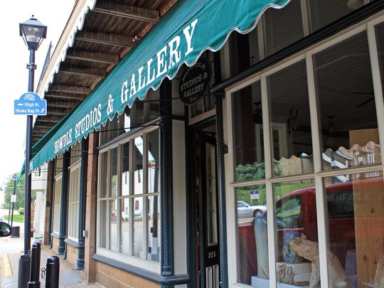 Specialty shops and galleries housed in historical