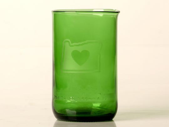 The tumblers made in Salem use recycled beer and wine bottles.