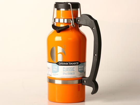 Prevent spills and breaks with this durable growler.