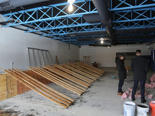 The interior of the forthcoming Livernois Tap & Brewery in Ferndale in the midst of its build-out on December 12, 2016.