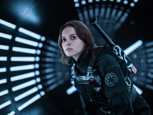 "Felicity Jones as Jyn Erso in ""Rogue One: A Star Wars Story,"" which is in theaters this weekend."
