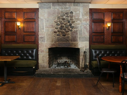 The fireplace from St. CeCe's Pub in Detroit's Corktown