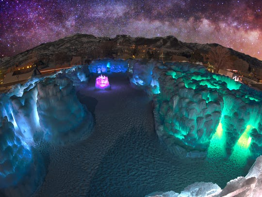 Ice Castles LLC produces temples of frozen water that