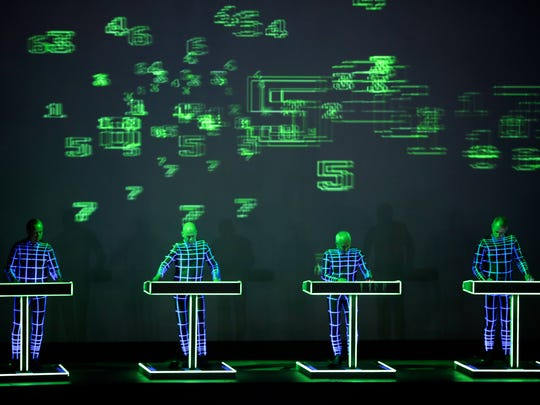 Kraftwerk perform during the 2016 Movement Electronic