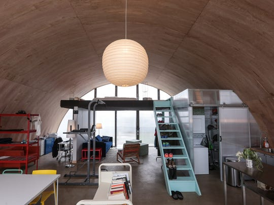 The interior of one of nine rental units involved in the True North project of Quonset huts in Detroit near Grand River and Warren is seen on Friday Dec. 30, 2016.