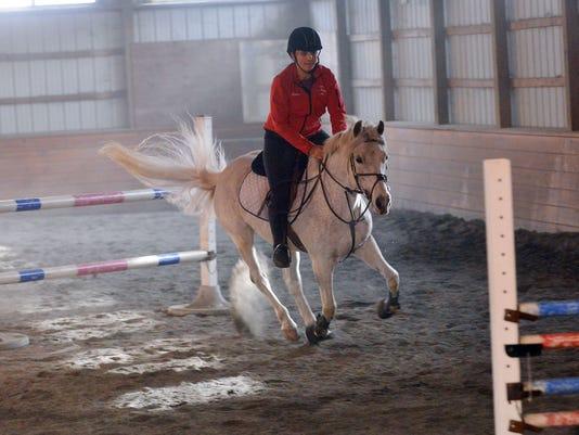 Pony jumper practice