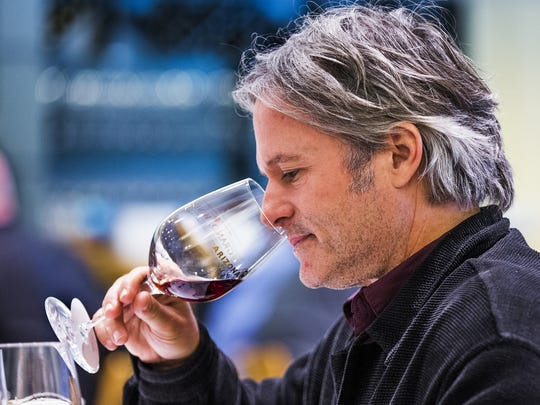 Mark Tarbell of Tarbell's judges wine at Palette at