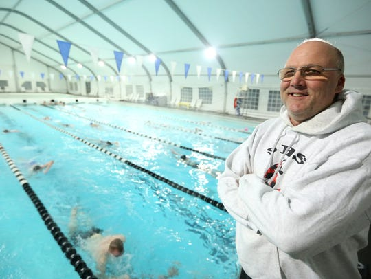 Silverton High School swimming head coach Lucky Rogers
