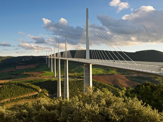 The world famous Millau Viaduct in southern France